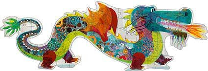 Djeco Leon The Dragon Puzzle - 58 Piece