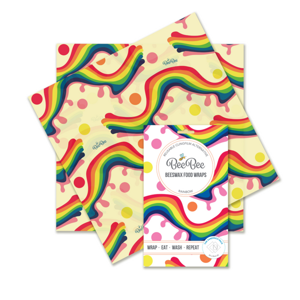 Beebee Beeswax Wraps, Sandwich Pack - COLOUR OPTIONS