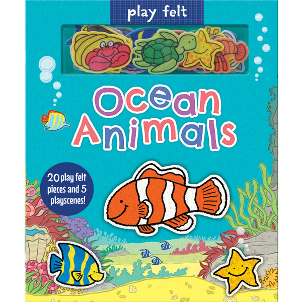 play felt ocean animals childrens book