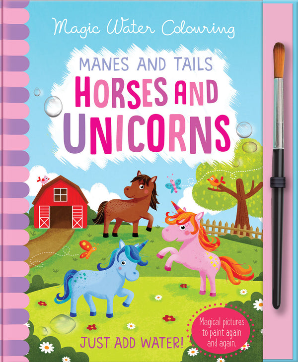 Horses/Unicorns Magic Water Painting Book