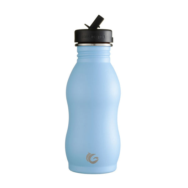 500ml One Green Bottle Stainless Steel Curvy Bottle - Hudson Blue