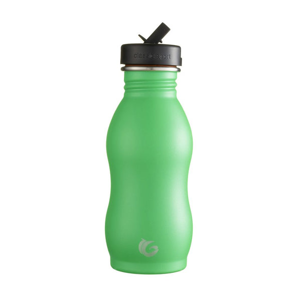 500ml One Green Bottle Stainless Steel Curvy Bottle - Pickle
