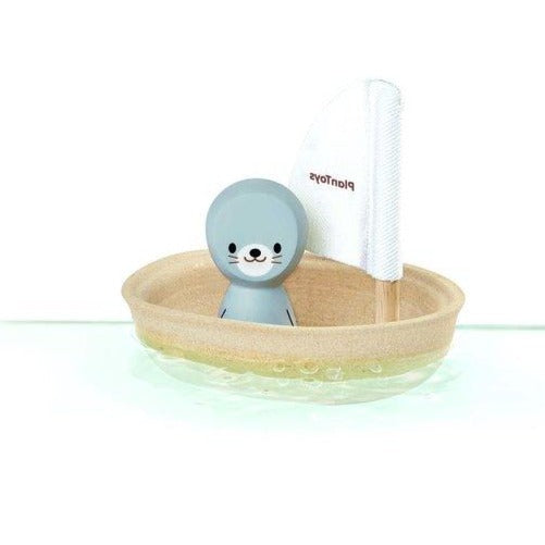 Plan Toys Bath Toy Sailing Boat - Seal