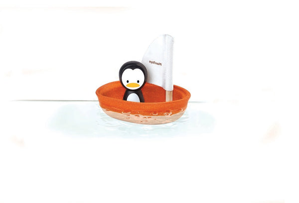 Plan Toys Bath Toy Sailing Boat - Penguin