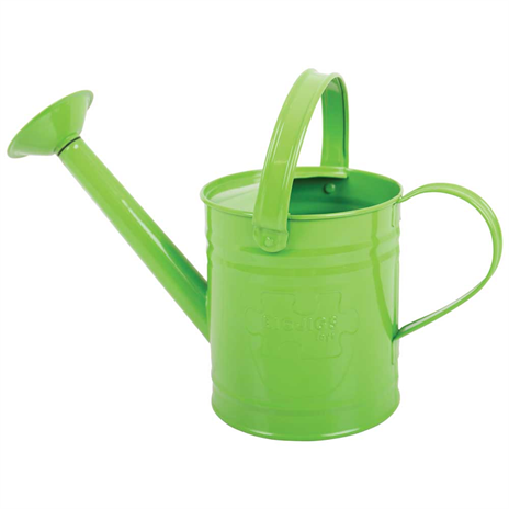 childrens green metal watering can