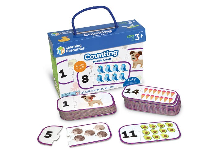 Learning Resources Counting Puzzle Cards