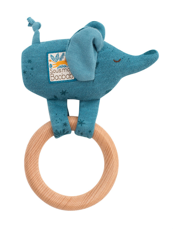Moulin Roty Wooden Elephant Rattle