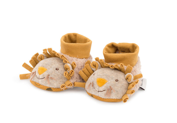 Moulin Roty Lion Baby Slippers 0-6M