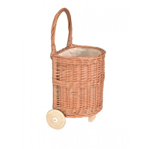 Wicker Caddy With White Fabric