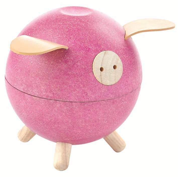 Plan Toys Piggy Bank-Pink