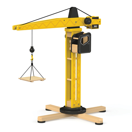 Wooden construction crane