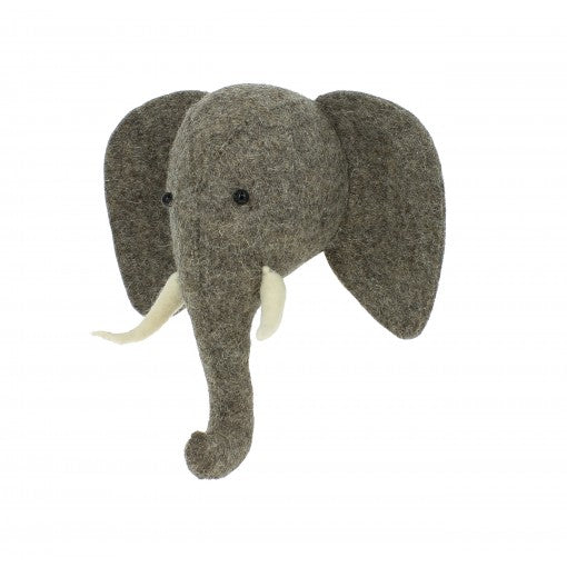 Fiona Walker Elephant Head With Trunk Up (Semi)
