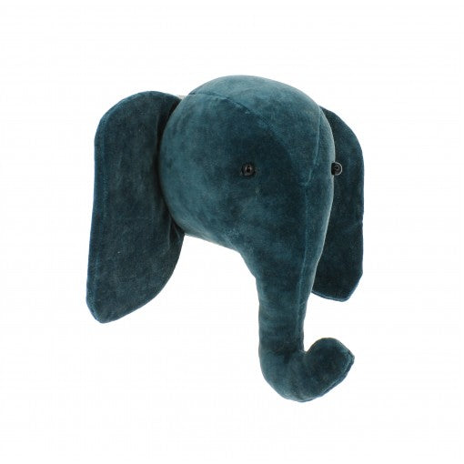 Fiona Walker Mini Velvet Elephant Head - Teal