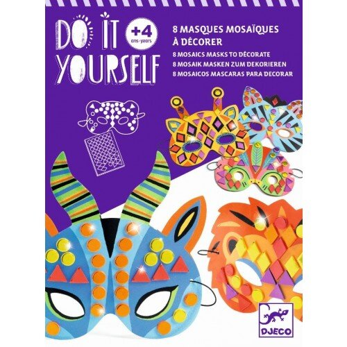 Djeco Diy Mosaic Masks - Jungle Animals