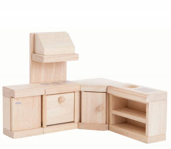 Plan Toys Natural Dolls House Furniture - Kitchen