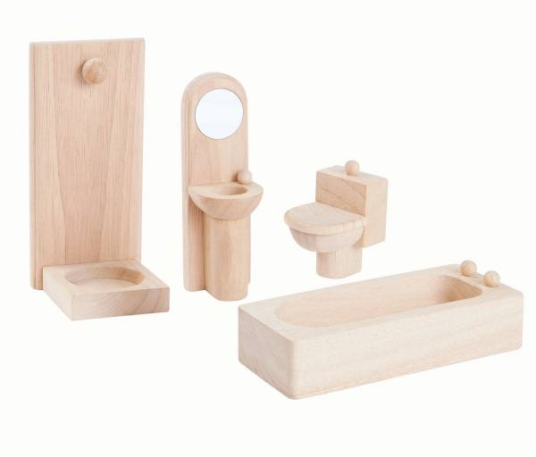 plan toys natural dolls house furniture