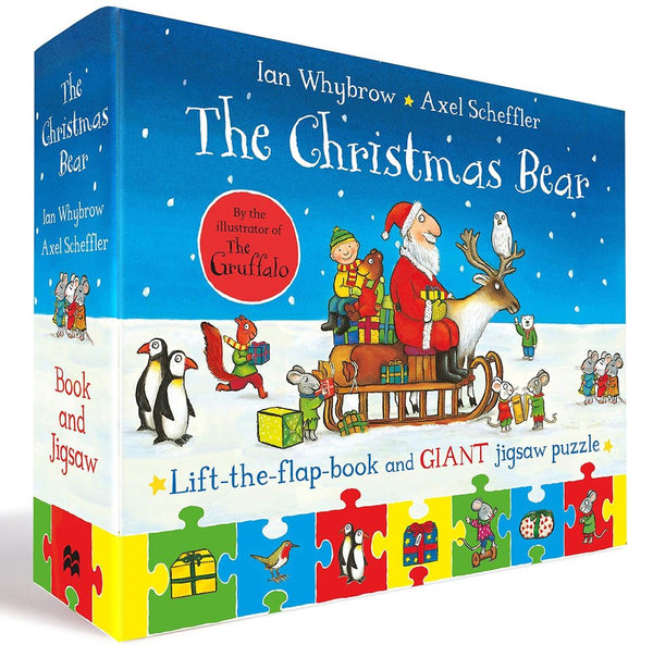 Christmas Bear Lift The Flap Book & Jigsaw Set