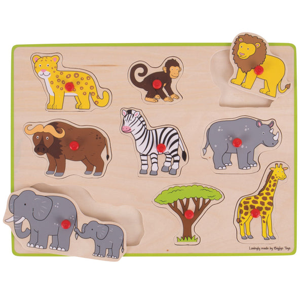 Bigjigs Lift Out Puzzle - Safari