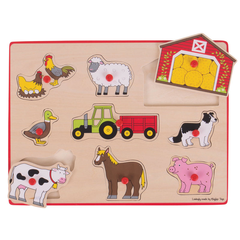 Bigjigs Lift Out Puzzle - Farm