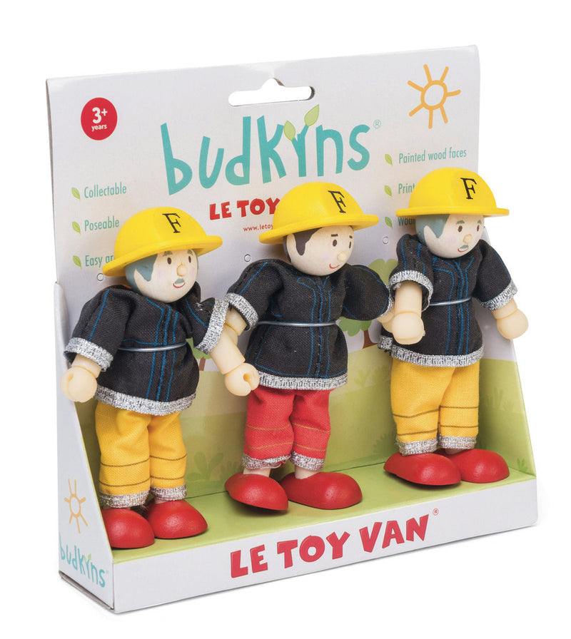 Le Toy Van 3 Pack Budkins Firefighters