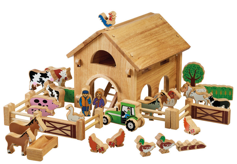 Lanka Kade Deluxe Farm Barn Set With Colourful Characters