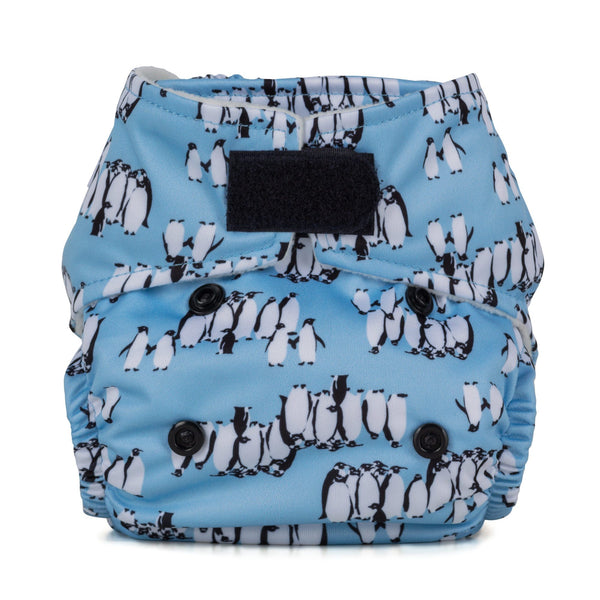 Baba & Boo Newborn Nappy - Penguins