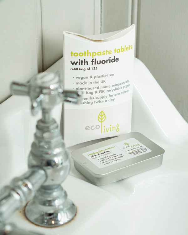 Eco Living Toothpaste Tablets - With Flouride