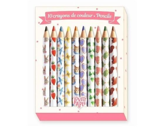Djeco 10 Mini Colouring Pencils