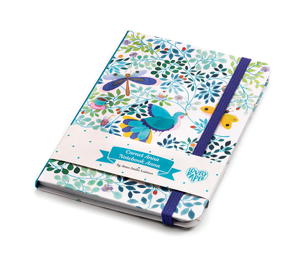 Djeco Anna Emilia notebook with elastic closure - FSC MIX