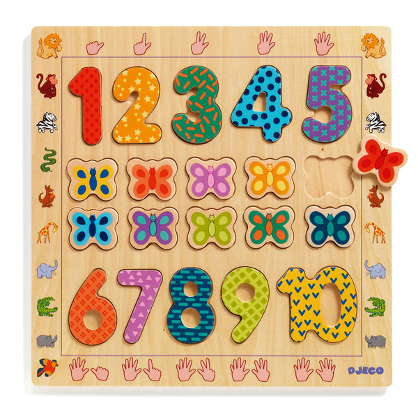 Djeco Educational Puzzle 1-10