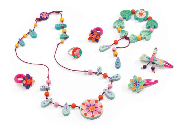 Djeco Wooden Jewellery- Flower Paradise