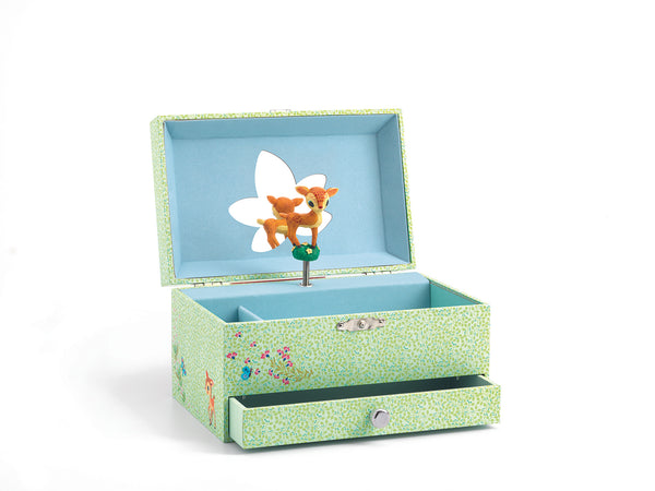 childrens musical jewelery box - deer
