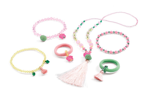 Djeco Hair Jewels and Jewellery-pompons and stars