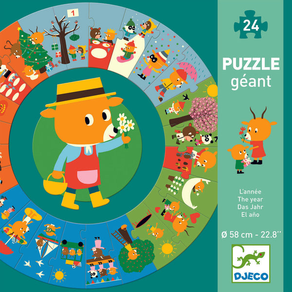 Djeco The Year In Seasons Giant Puzzle