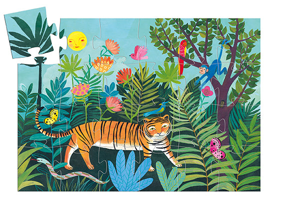 Djeco The tiger's walk Puzzle - 24 pcs