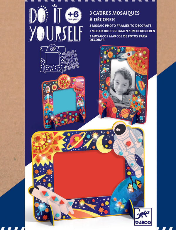 Djeco Diy Mosaic Photo Frames - In Space