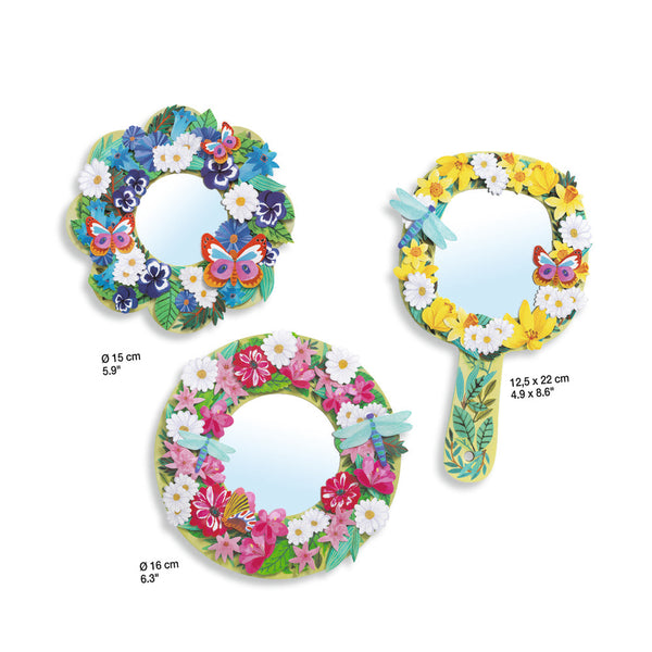 Djeco Do It Yourself Pretty Flowers- Flower Mirrors