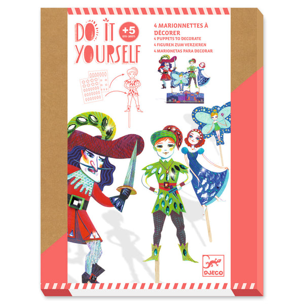 Djeco Do It Yourself Puppets - Peter Pan