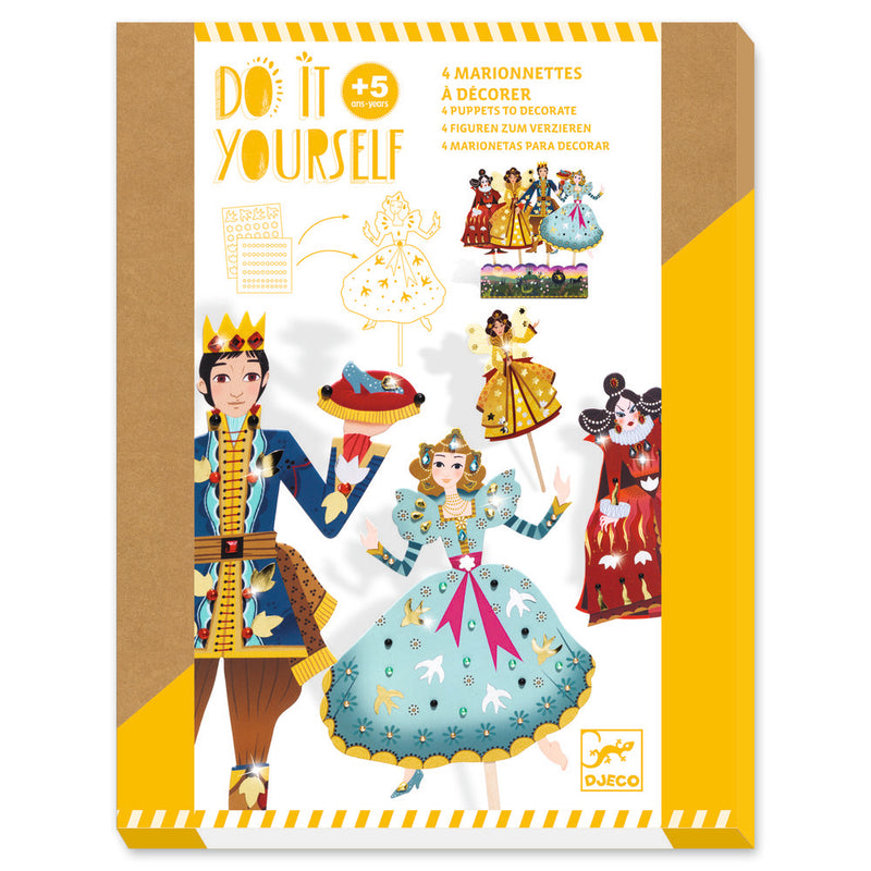 Djeco Do It Yourself Puppets - Cinderella