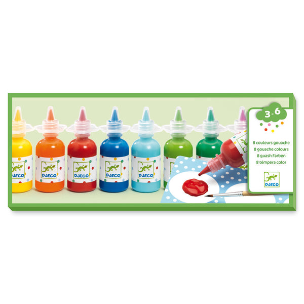 Djeco 8 Bottles Of Poster Paints