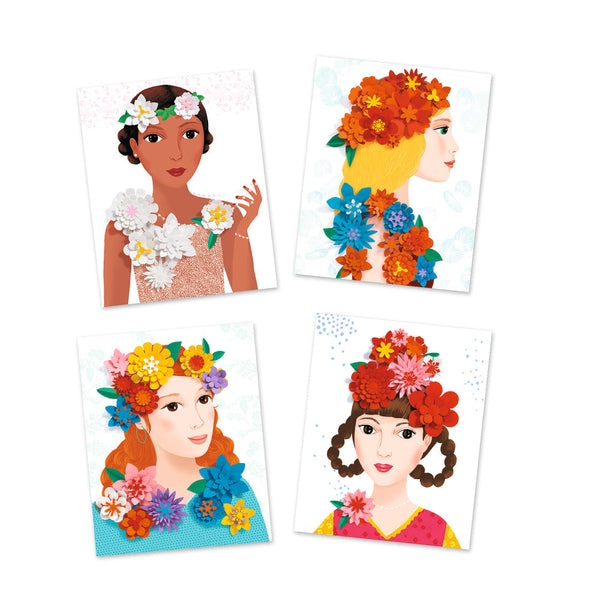 Djeco Paper Creation - Girls In Flowers