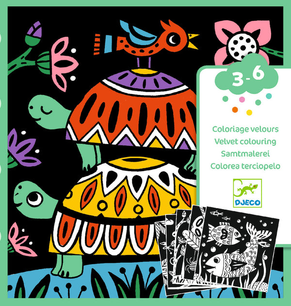 Djeco Velvet Colouring - Creepy Crawlies