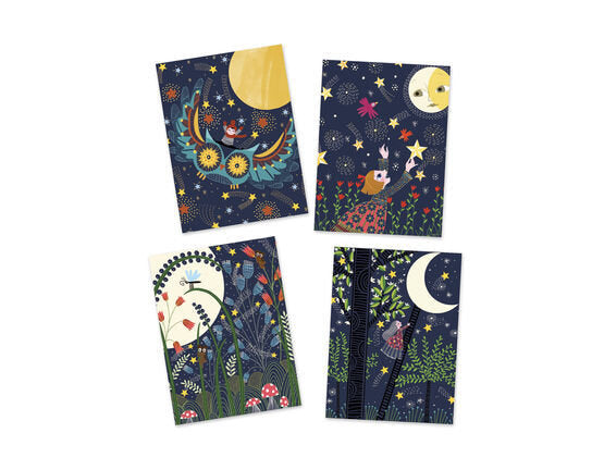 Djeco Scratch Cards - Full Moon