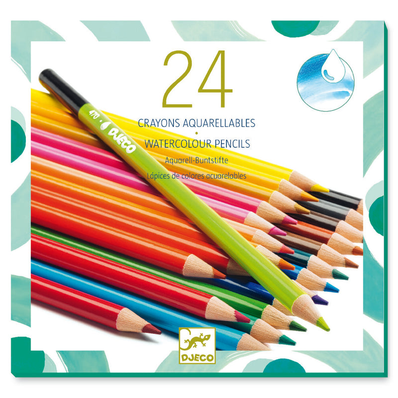 Djeco Colours - 24 Watercolour Pencils