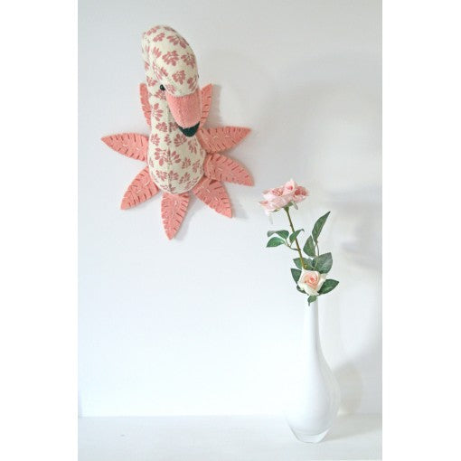 Fiona Walker Printed Flamingo Head With Feathers (Mini)