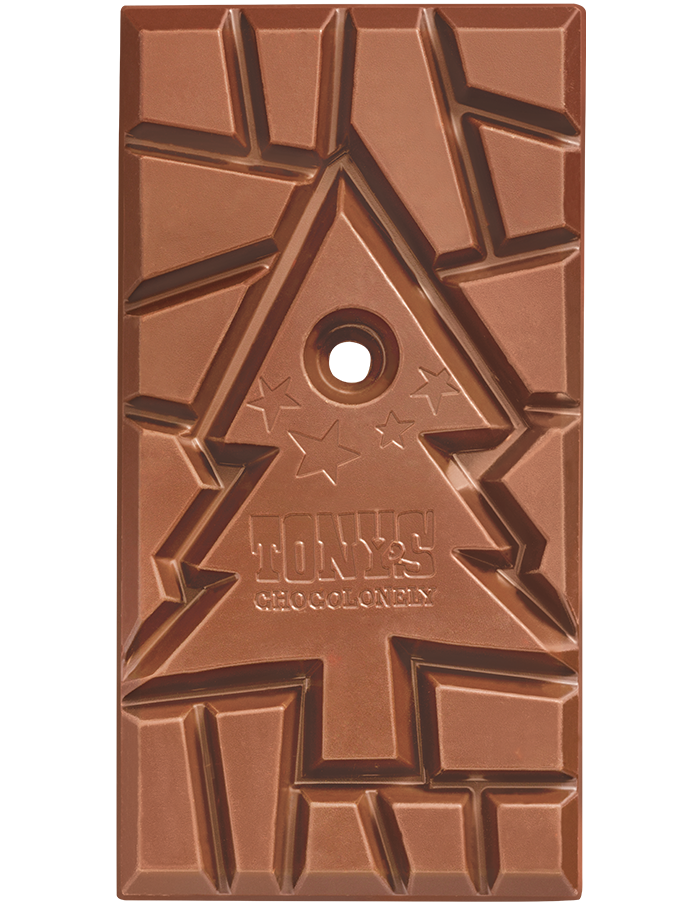 Tony's Chocolonely Milk Chocolate Gingerbread Christmas 180g