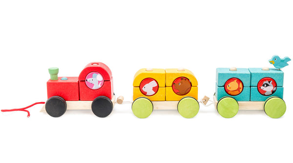 Le Toy Van Stacking Train 'Woodland Express'