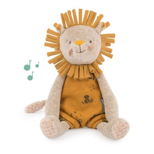 Moulin Roty Musical Soft Paprika The Lion
