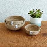 Respiin Jute Mini Bowls - Natural