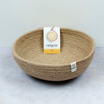Respin Natural Jute Bowl - Medium